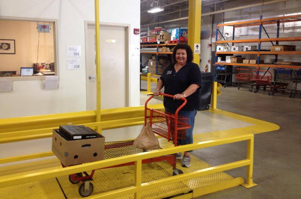 Deb-with-Cart-Donation