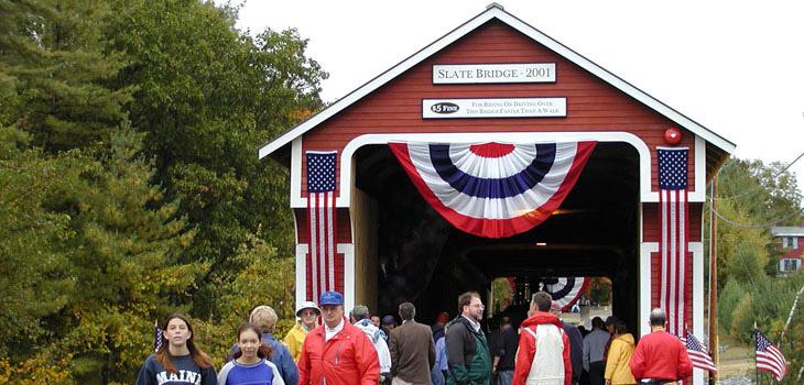 Slate Covered Bridge Hoyle Tanner