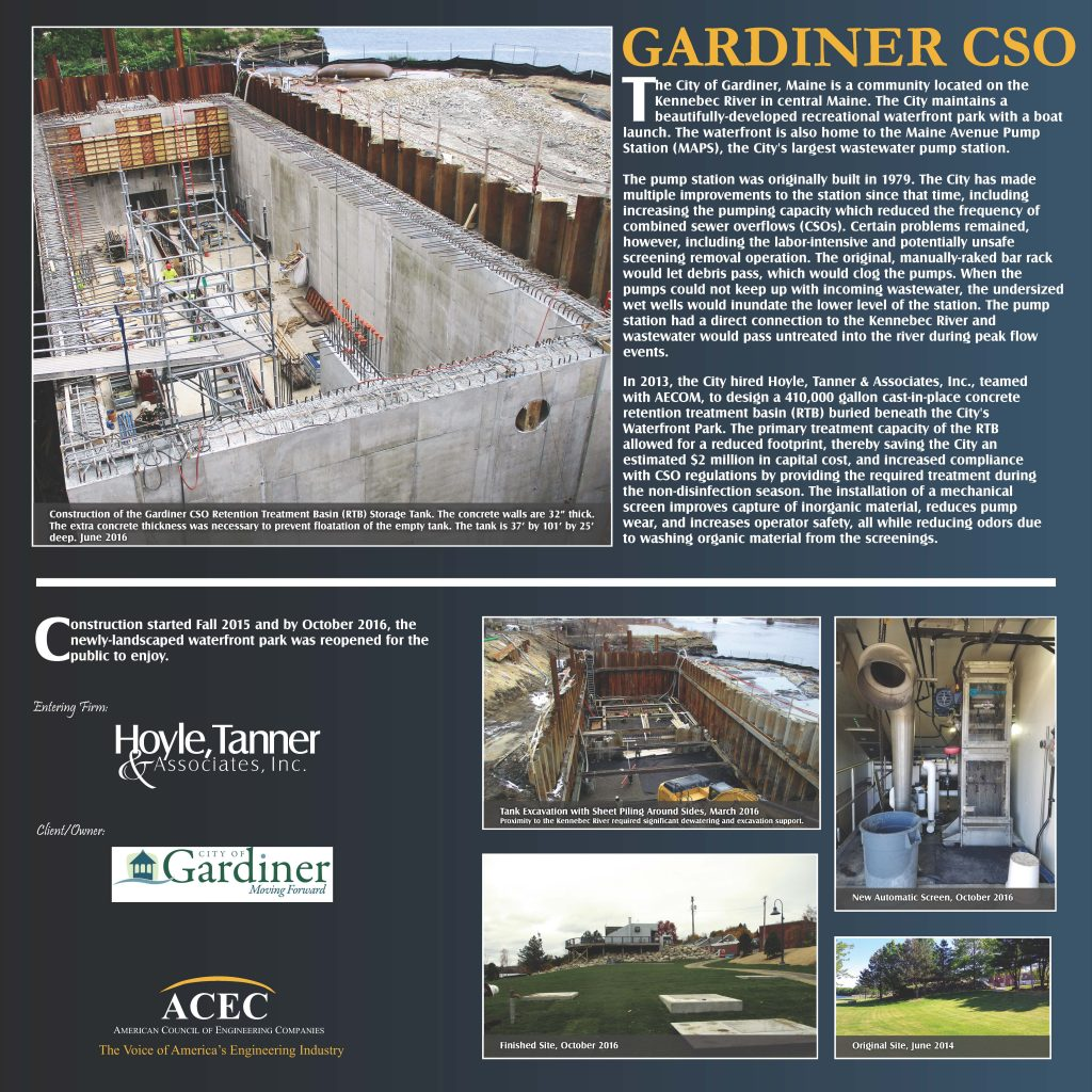 Gardiner, ME Combined Sewer Overflow award submission