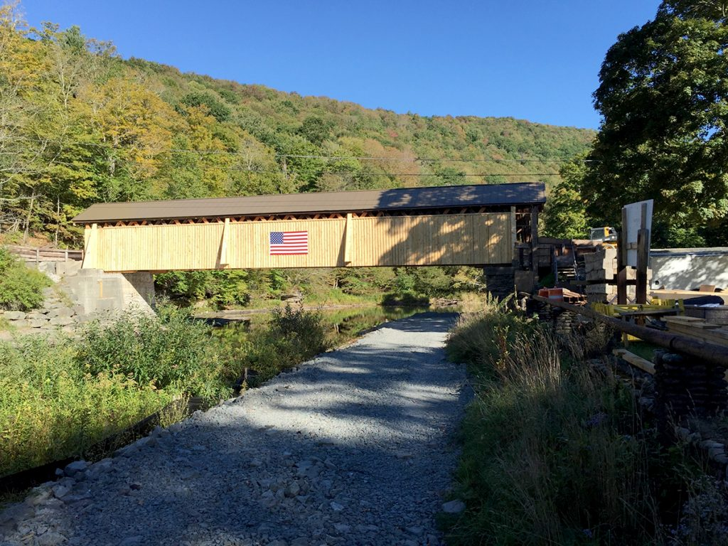 Beaverkill Covered Bridge in Rockland, NY
