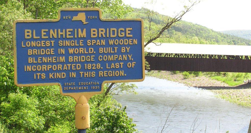 The Historic National Landmark - Old Blenheim Covered Bridge