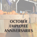 Pumpkin photo with october anniversaries in black text on top