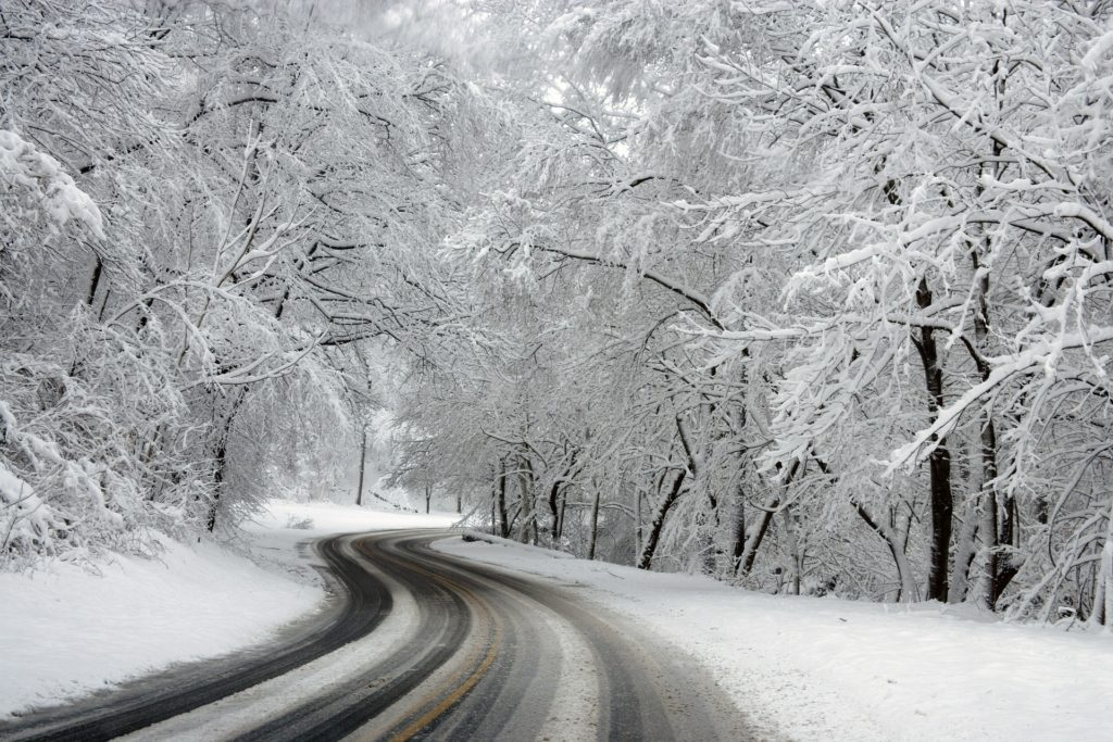 Snow covered road