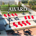 Image of lawn chairs on newly renovated campus area