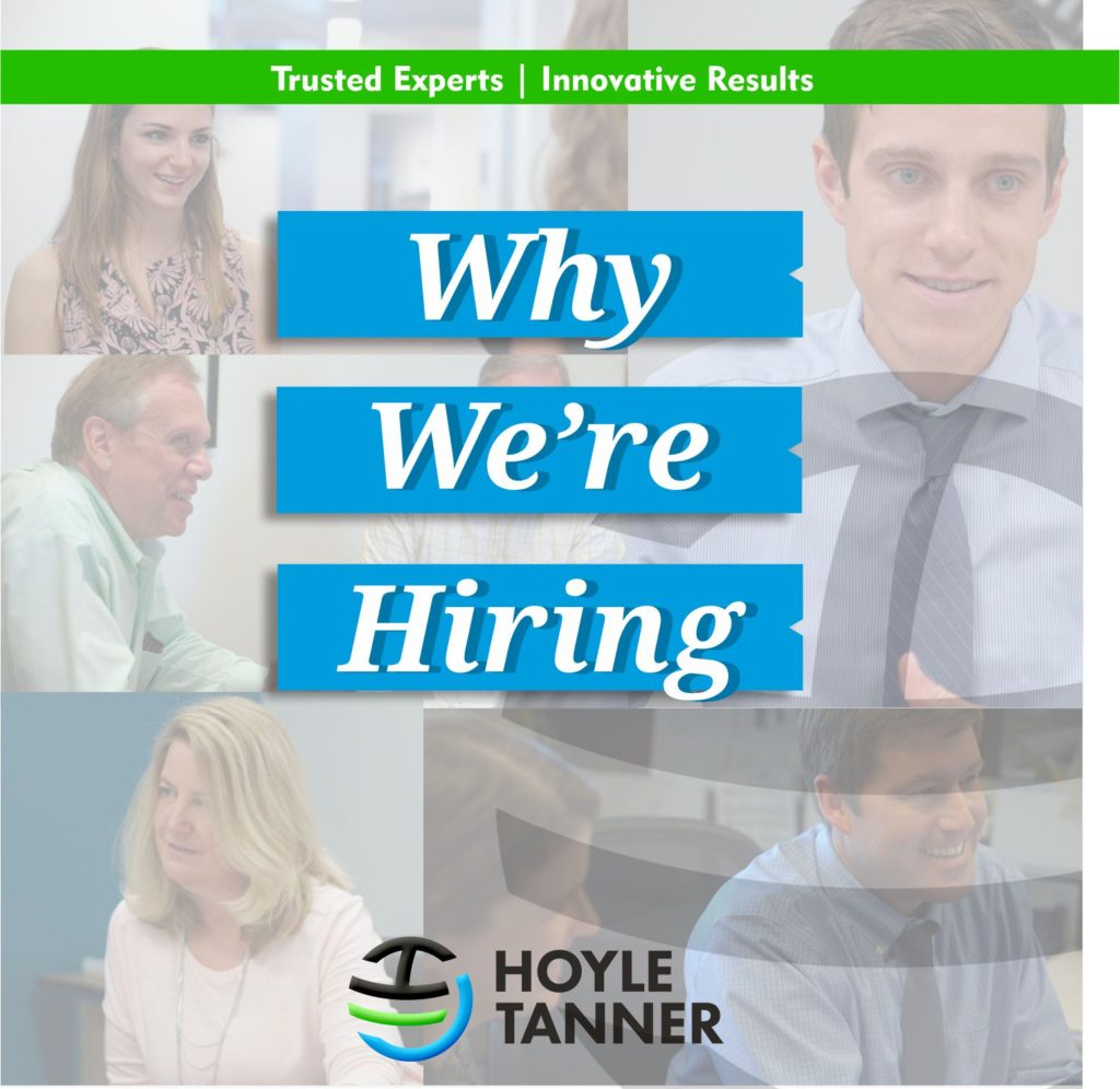 Graphic of faded faces in the background and Why We're Hiring as text
