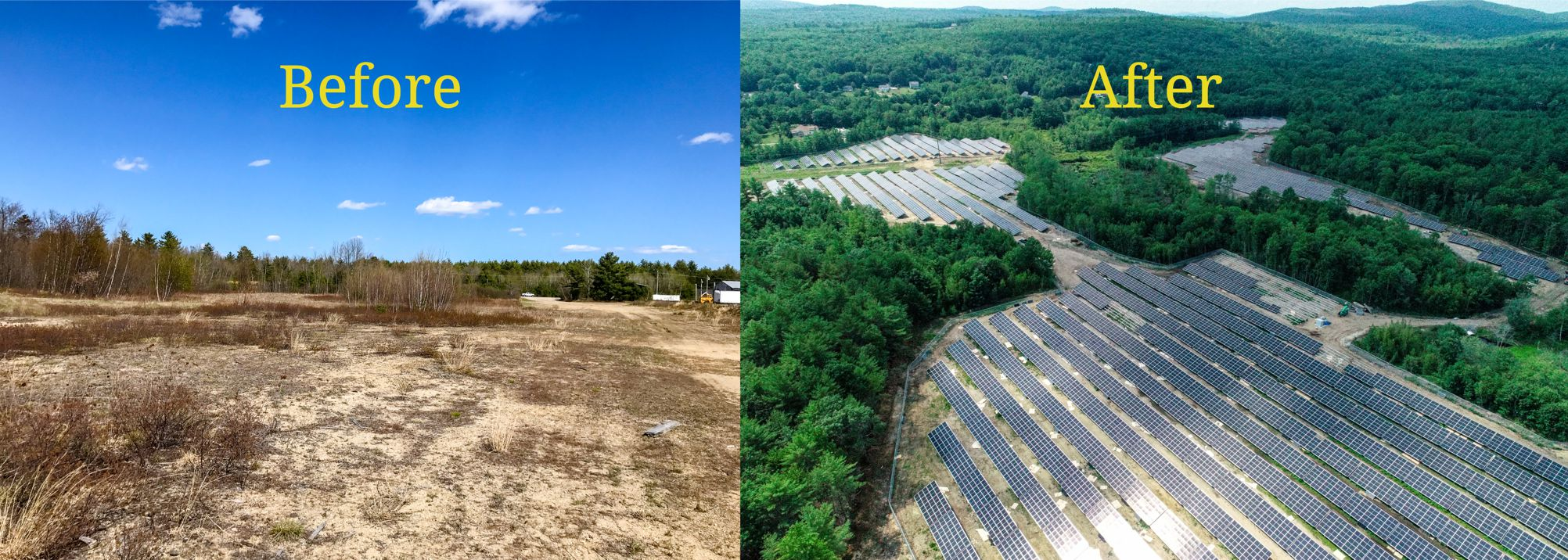 solar farm before and after